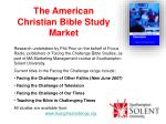 the american christian bible study market