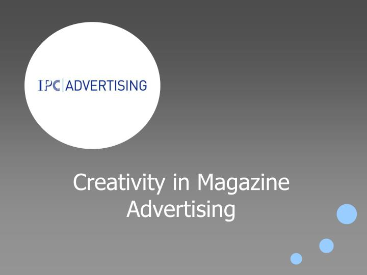 creativity in magazine advertising n.