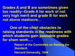 report of the committee on raising the standard harvard university 1894