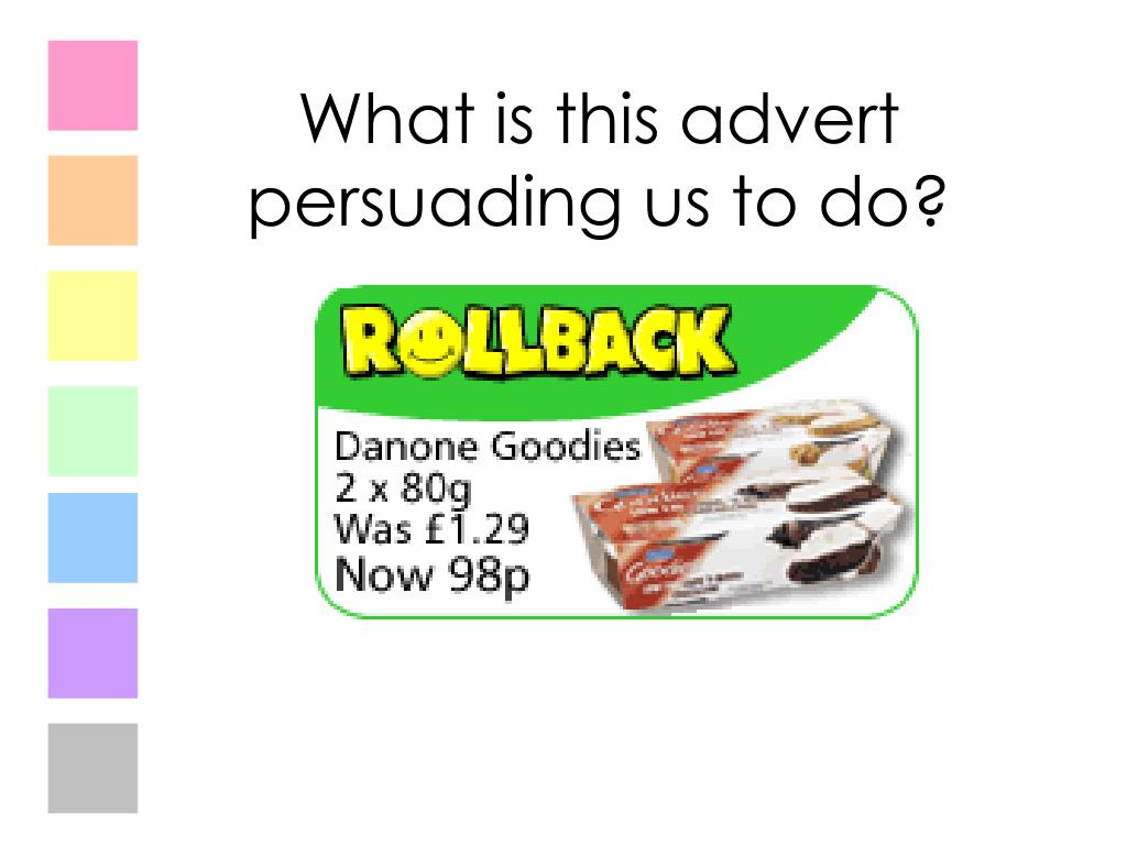 What is this advert persuading us to do?