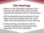 fair hearings