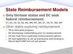 state reimbursement models