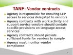 tanf vendor contracts