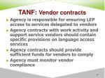 tanf vendor contracts