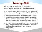 training staff