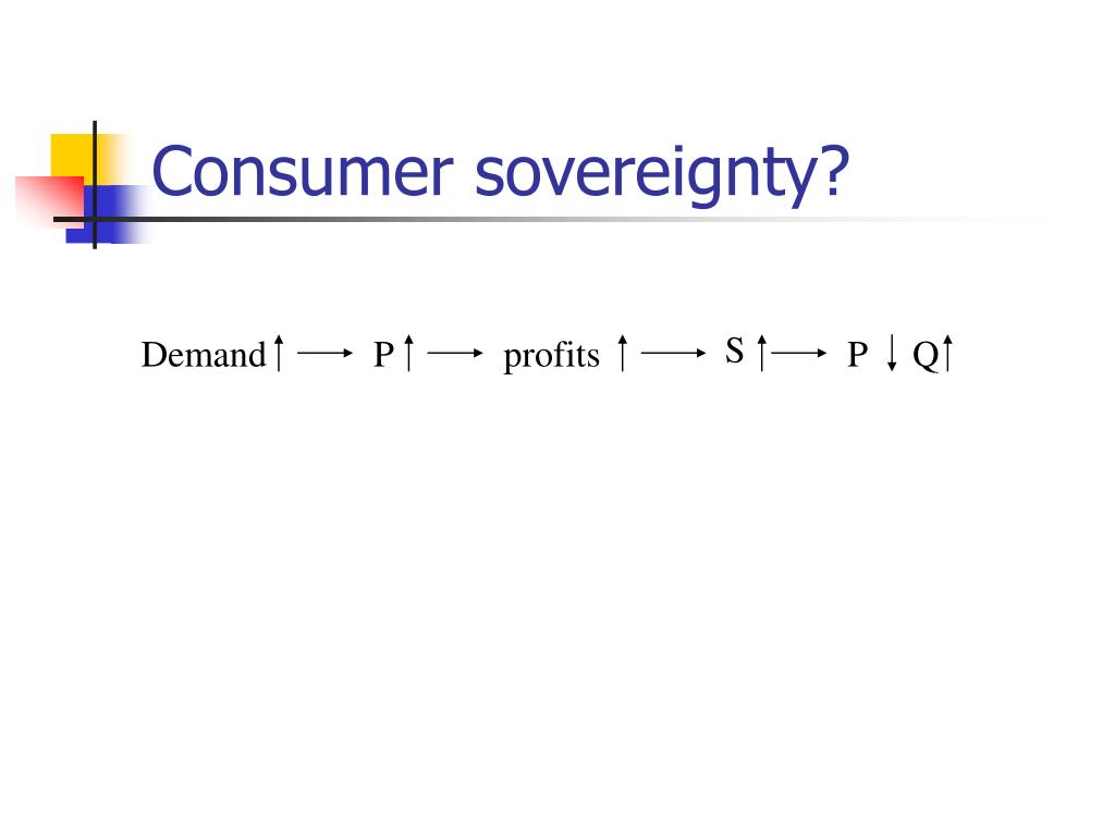 Consumer sovereignty?