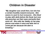 children in disaster