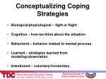 conceptualizing coping strategies