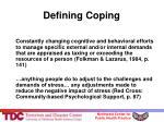defining coping