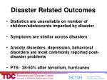 disaster related outcomes