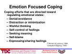 emotion focused coping