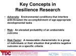 key concepts in resilience research
