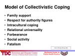 model of collectivistic coping