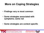 more on coping strategies