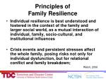 principles of family resilience