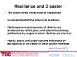 resilience and disaster