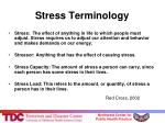 stress terminology