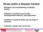 stress within a disaster context