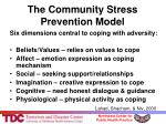 the community stress prevention model