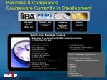 business compliance courseware currently in development1