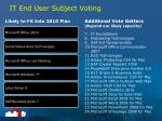 it end user subject voting