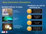 next generation simulations