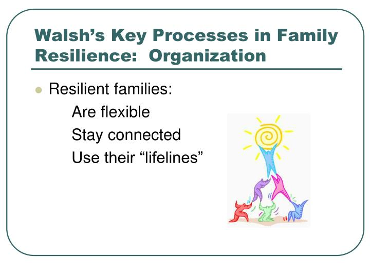 Walsh's Key Processes in Family Resilience:  Organization