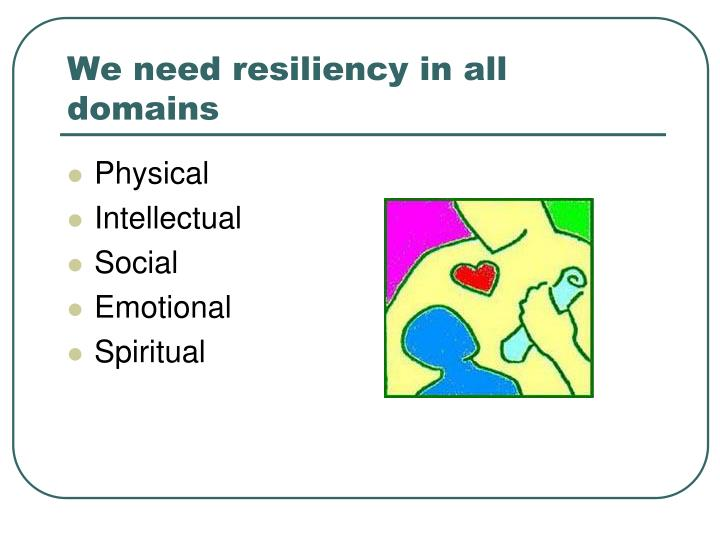 We need resiliency in all domains