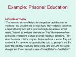example prisoner education