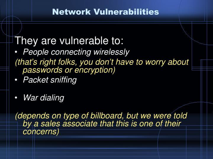 Network Vulnerabilities