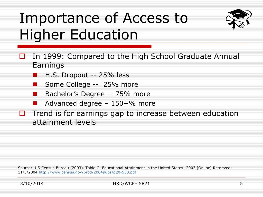 Importance of Access to Higher Education