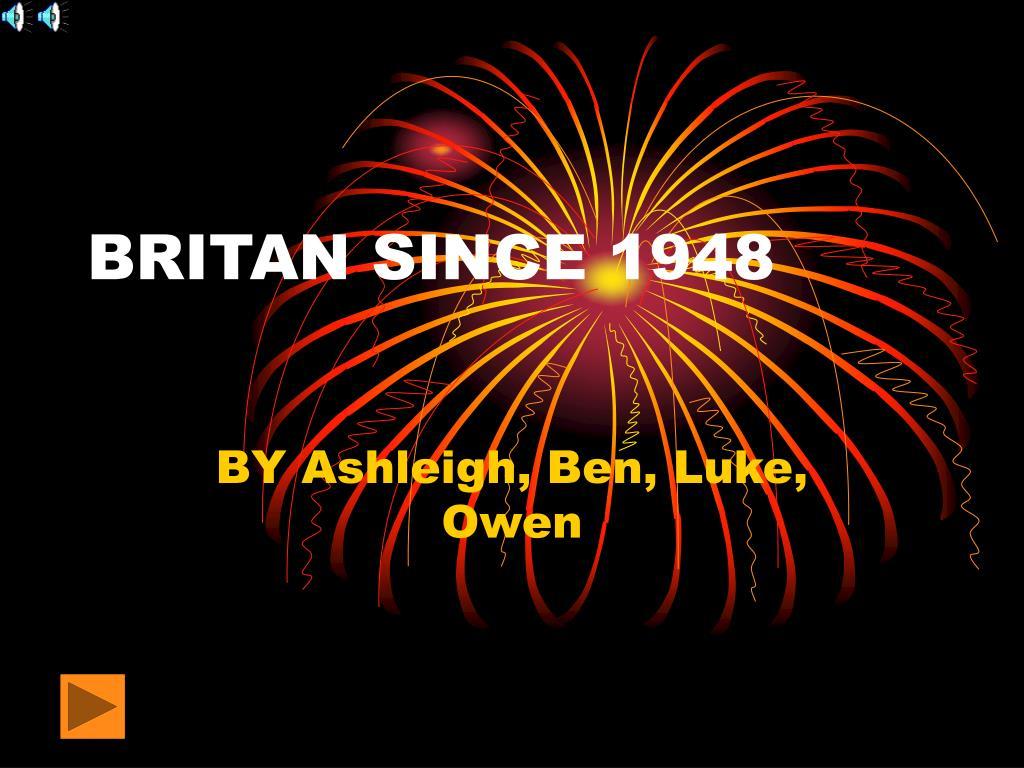 britan since 1948 l.