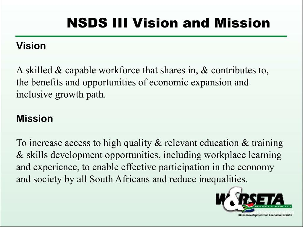 NSDS III Vision and Mission