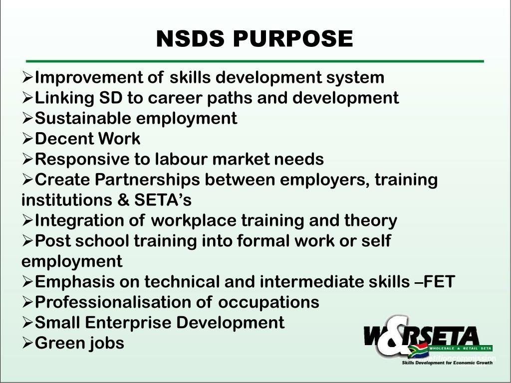 NSDS PURPOSE