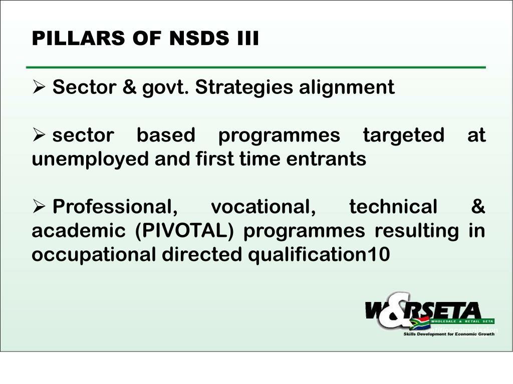 PILLARS OF NSDS III