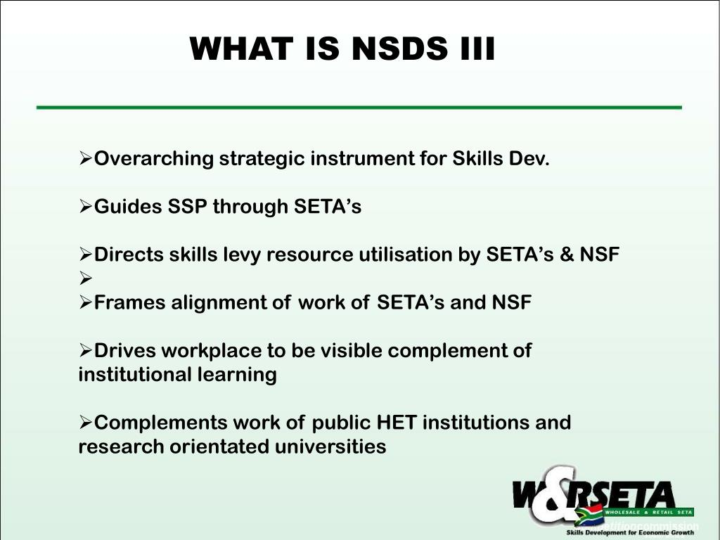 WHAT IS NSDS III
