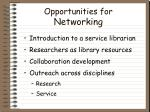 opportunities for networking