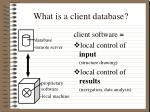 what is a client database