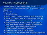 how to assessment