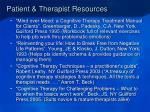 patient therapist resources