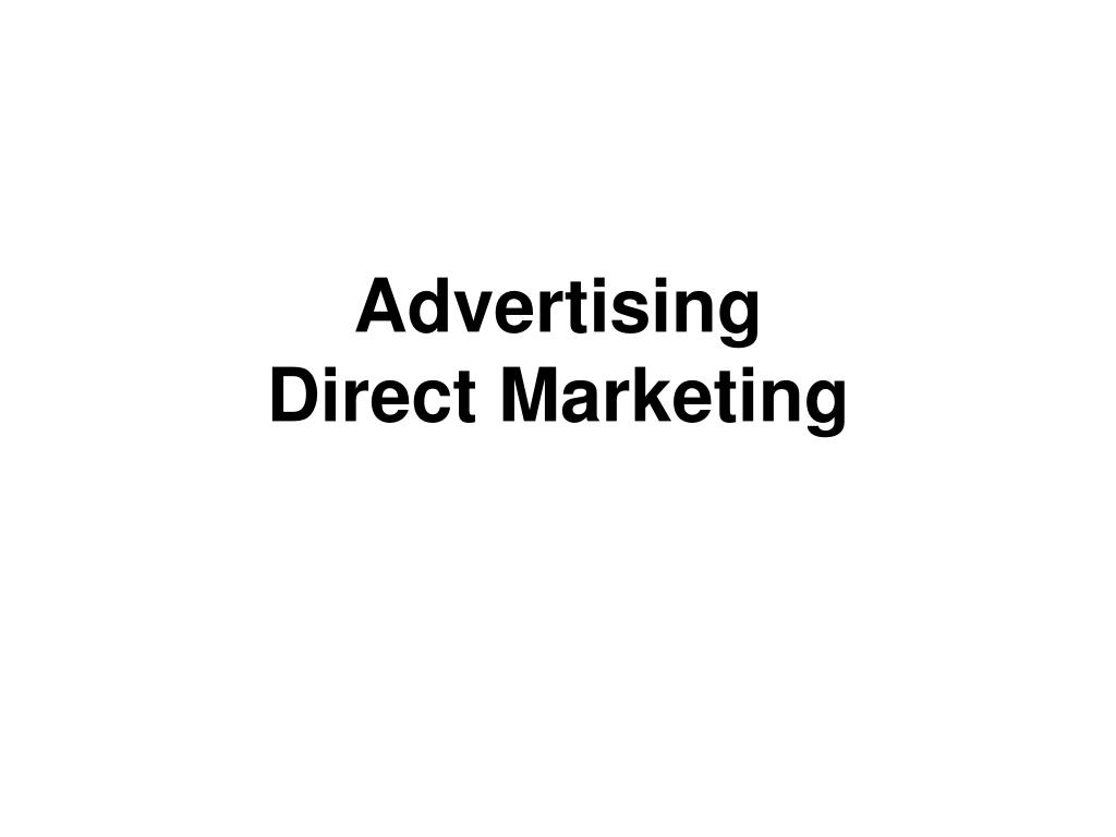 advertising direct marketing l.