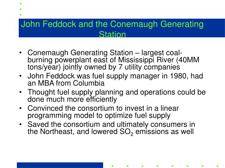 John Feddock and the Conemaugh Generating Station