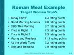 roman meal example target women 50 6515
