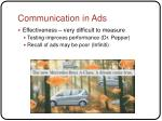 communication in ads