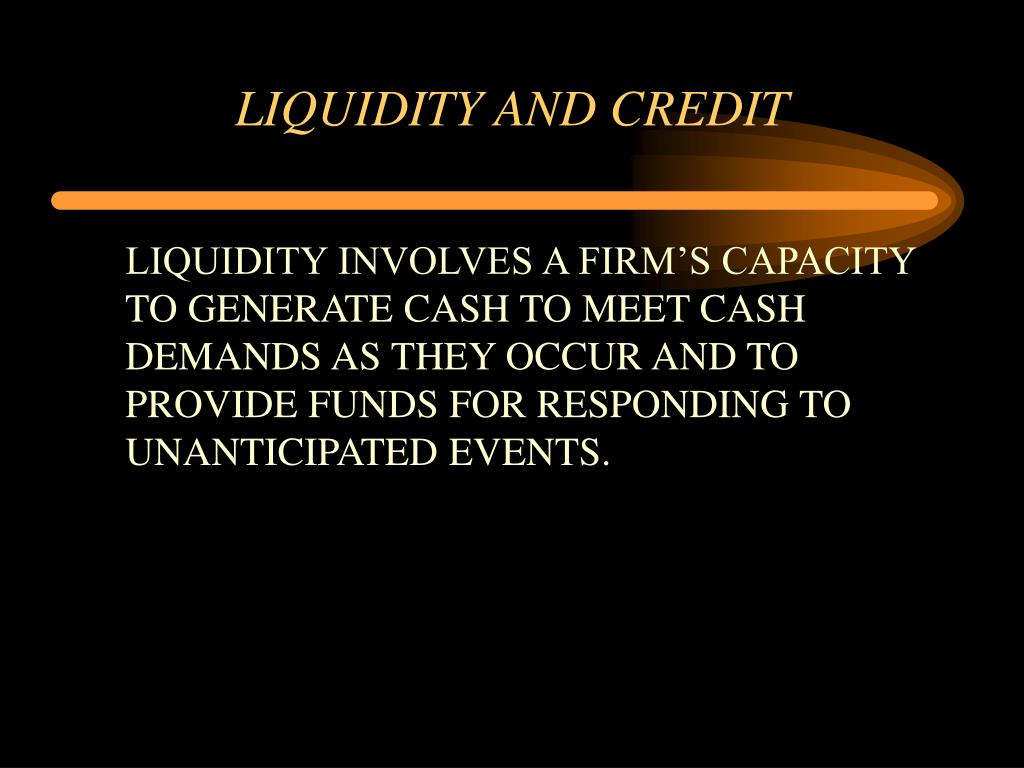 liquidity and credit l.