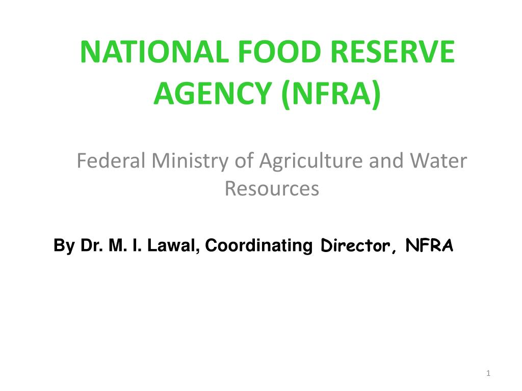 national food reserve agency nfra l.