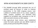 nfra achievements in 2009 cont d25