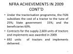 nfra achievements in 2009 cont d27