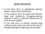 nfra mission