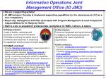 information operations joint management office io jmo